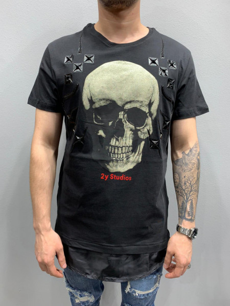 TRICOU GOLD SKULL LONG BLACK COD : TSAS184