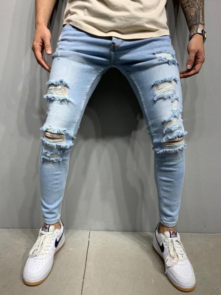 BLUGI DESTROYED SLIM FIT BLUE COD : BGAS465