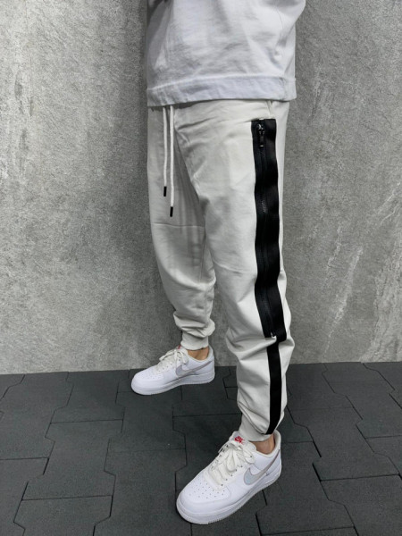 PANTALONI STRIPED WHITE&BLACK BGAS600(5271)