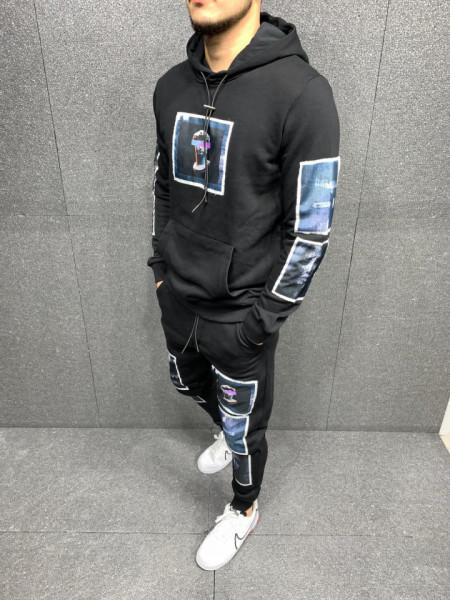 TRENING SLIM FIT ARTISTIC BLACK COD : TRAS50