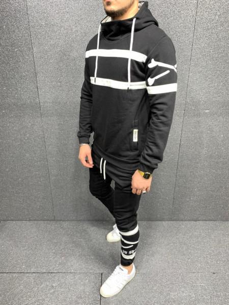 TRENING SLIM FIT STRIPED BLACK COD : TRAS48