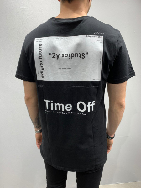 TRICOU TIME OFF BLACK COD : TSAS180
