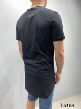 TRICOU ASYMMETRIC ZIPPER LONG BLACK COD : TSAS182