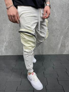 PANTALONI HOINAR POCKET WHITE BGAS598(5257)