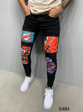 BLUGI SLIM FIT CARTOON BLACK COD : BGAS392