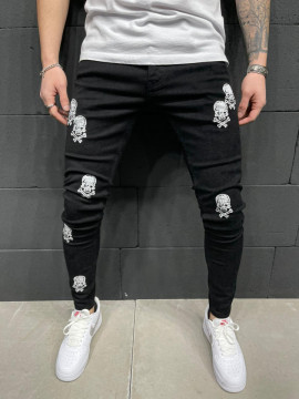 BLUGI SLIM FIT SKULL 2 BLACK COD : BGAS557(5887)