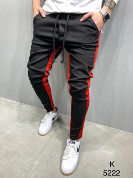 PANTALONI STRIPED BLACK&RED COD : BGAS420