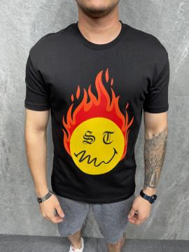 TRICOU FLAME BLACK TSAS263(1016)