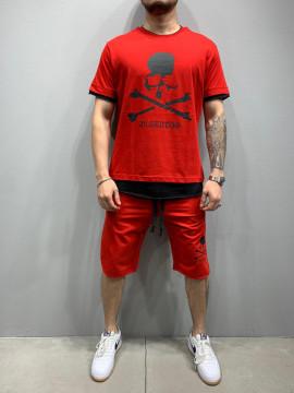 PANTALONI COMPLEU SKULL RED COD : BGAS455
