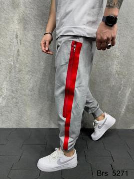 PANTALONI STRIPED GREY&RED BGAS602(5271)