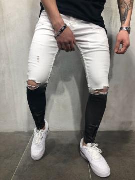 BLUGI ZIPPER BLACK&WHITE COD : BGAS262