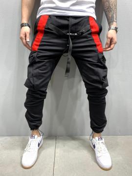 PANTALONI HOINAR BLACK&RED COD : BGAS432