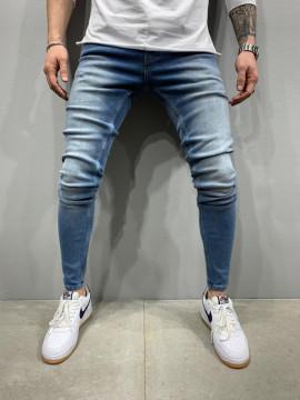 BLUGI SLIM FIT CLASIC BLUEWHITE COD : BGAS408