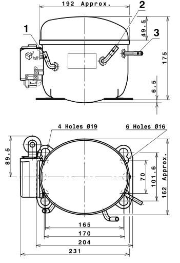 Compresor Cubigel GL60TB