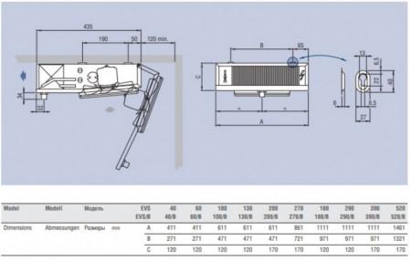 evaporator camera frigorifica evs180