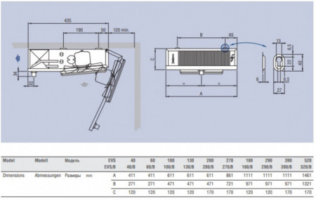 evaporator camera frigorifica evs181