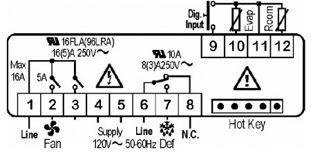 Controler (termostat) Dixell xr06cx