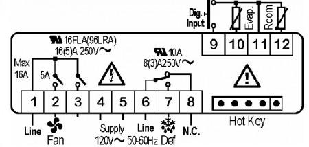 Controler (termostat) Dixell xr60cx camere frigorifice