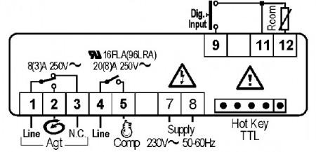 Controler (termostat) Dixell xr80cx agitator