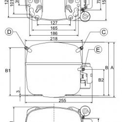 Compresor SC15G danfoss