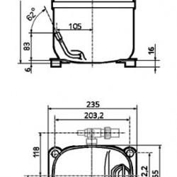 Compresor Tecumseh CAJ4517Z
