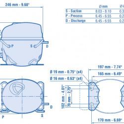 Compresor aspera NEK6213GK