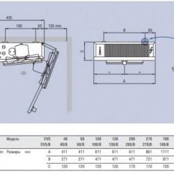 Evaporator EVS180ED tip