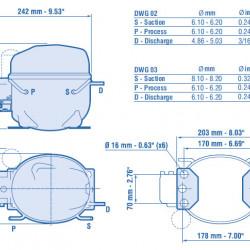 Compresor Aspera NEK2168GK