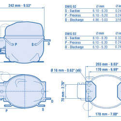 Compresor Aspera NEK2150GK