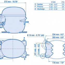 Compresor Aspera NT6217Z