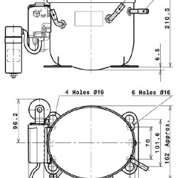 Compresor Cubigel MPT16LA