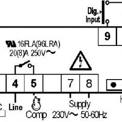 Termostat Dixell XR80CX 230V