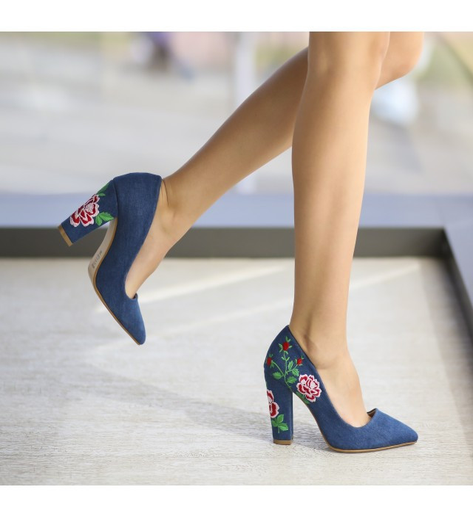 Обувки Витон Тъмносини