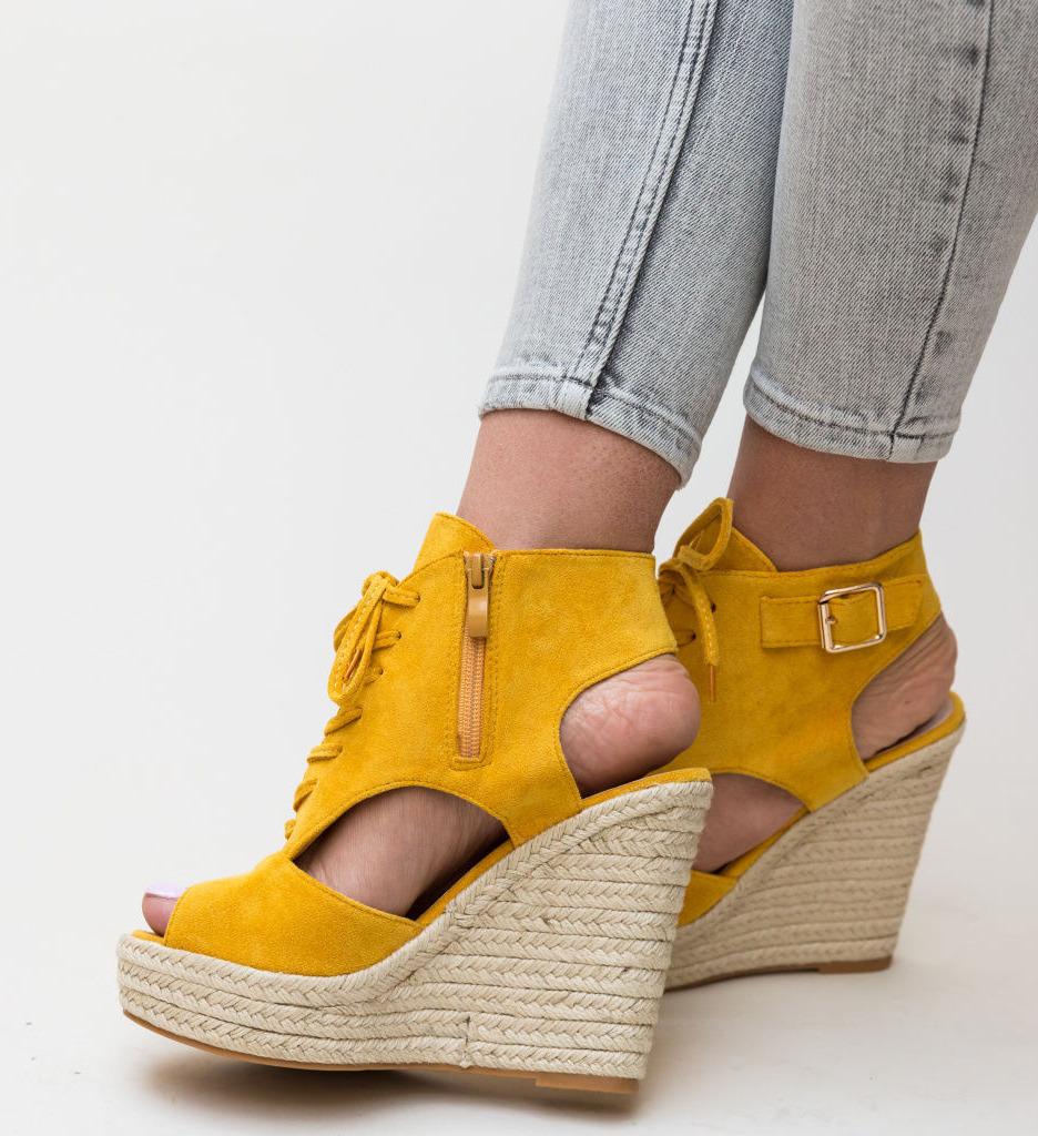 Платформи Stamp Жълти