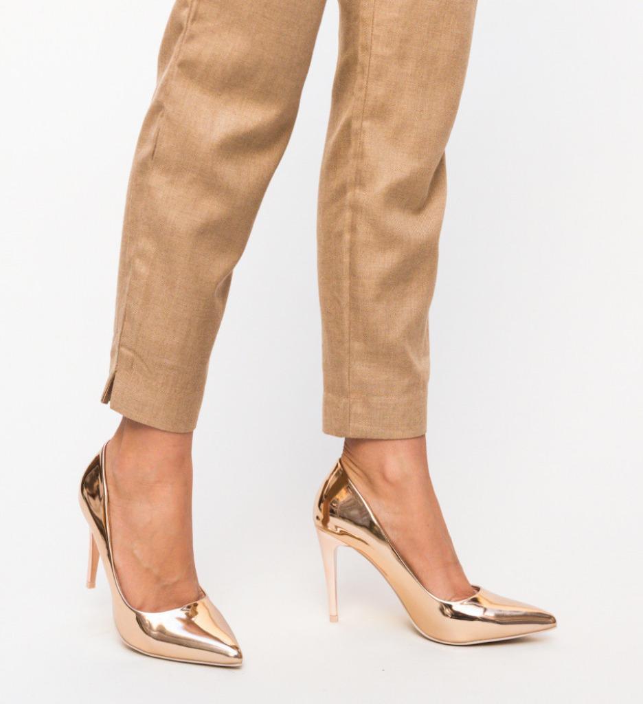 Обувки Polon Златни