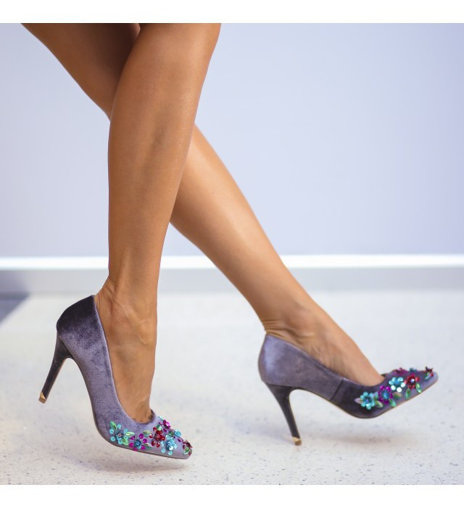 Обувки Йонис Сиви