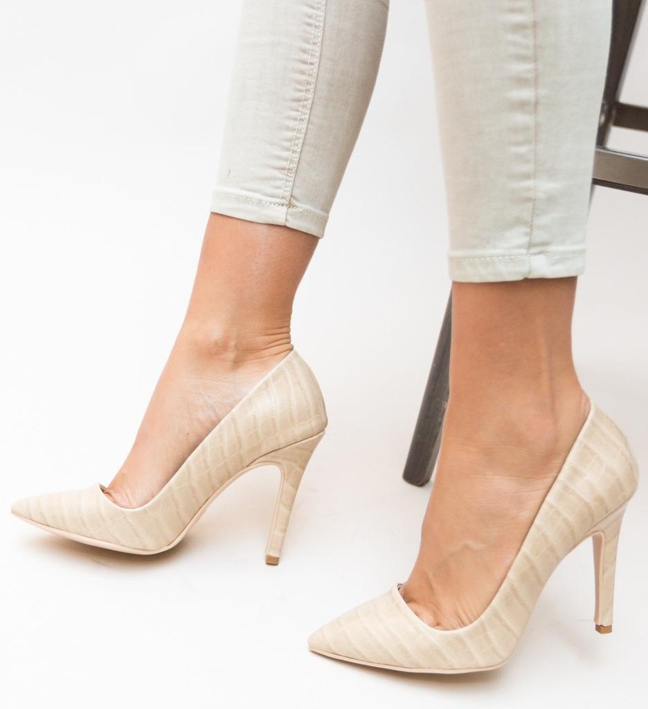 Обувки Nido Бежови