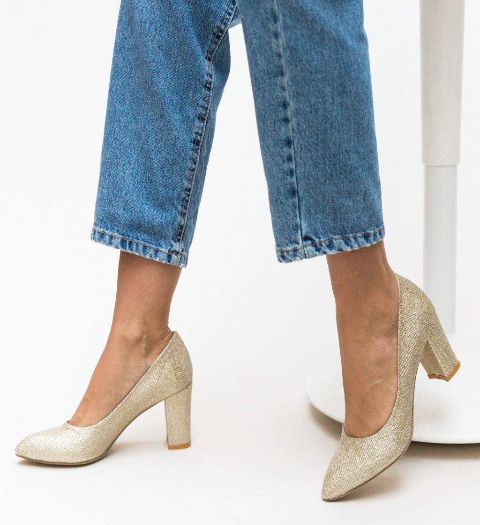 Обувки Orion Златни