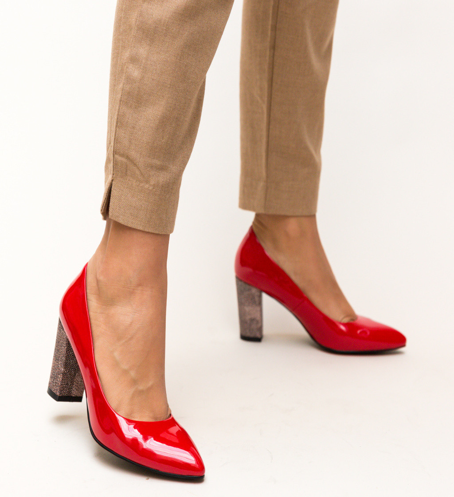Обувки Chen Червени