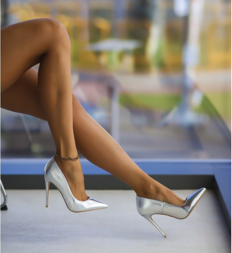 Обувки Адор Сребърни