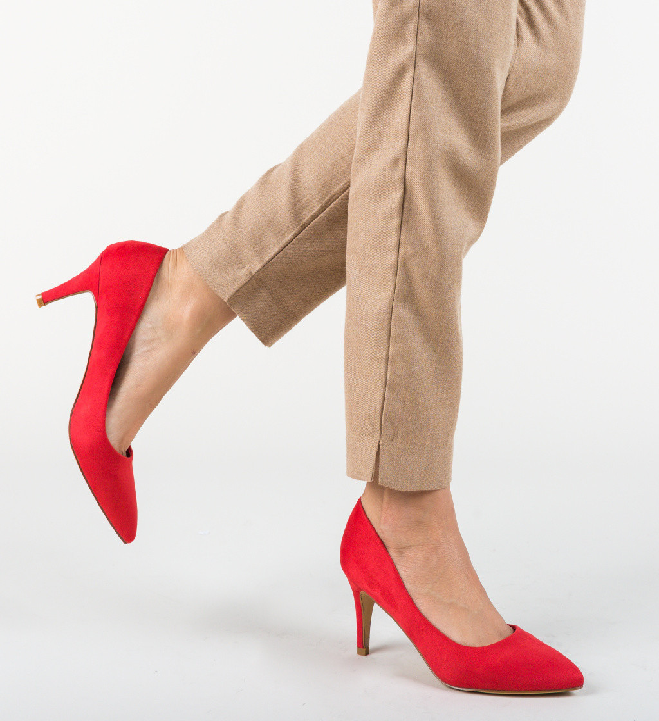 Обувки Hipor Червени