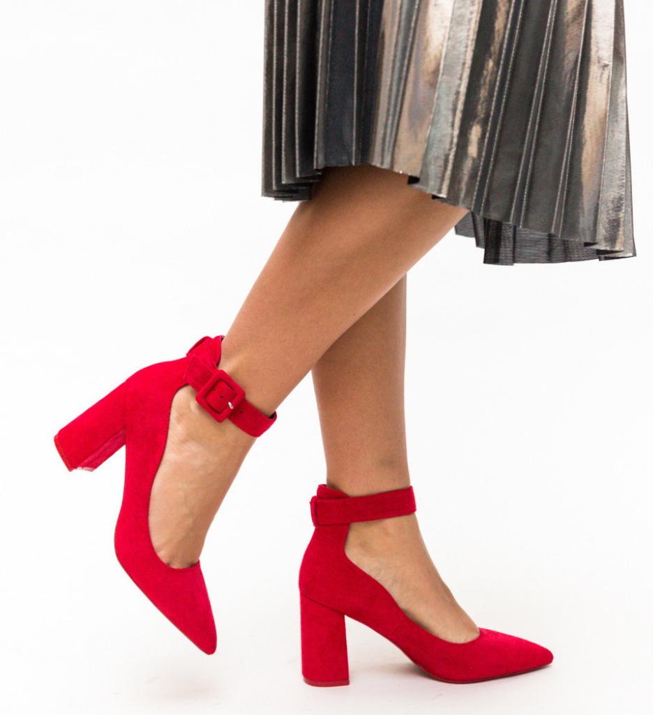 Обувки Loga Червени