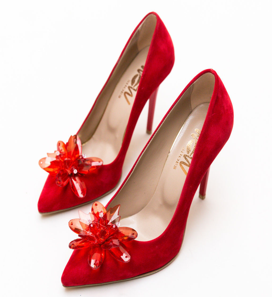 Обувки Zalos Червени