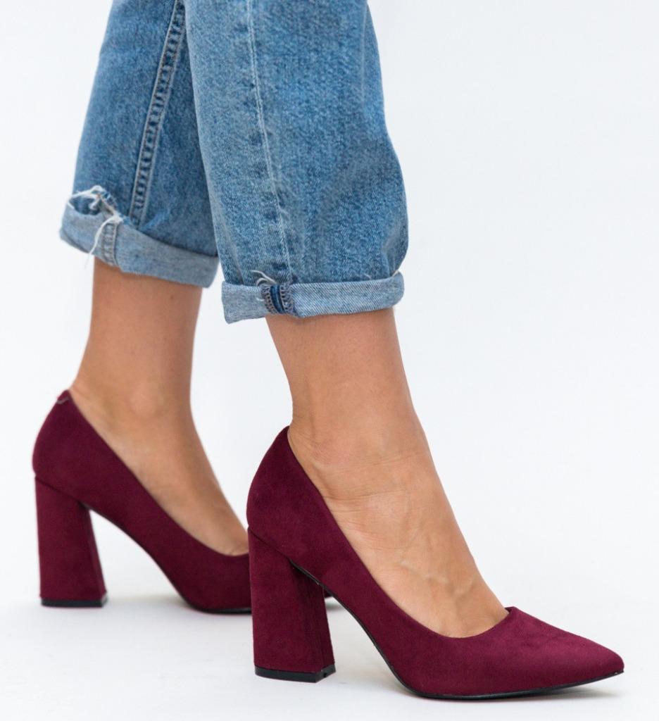 Обувки Dorsy Гранатови