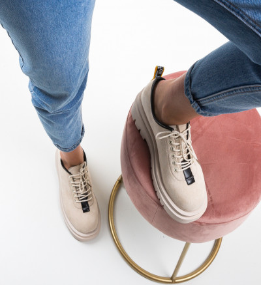 Ежедневни обувки Kajal Бежов