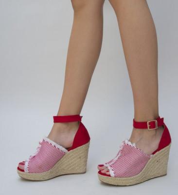 Обувки на Платфрома Ясио Червени