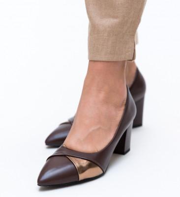Обувки Alix Кафяви