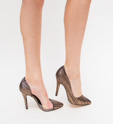Обувки Eman Бронзови