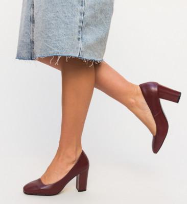 Обувки Horton Гранатови