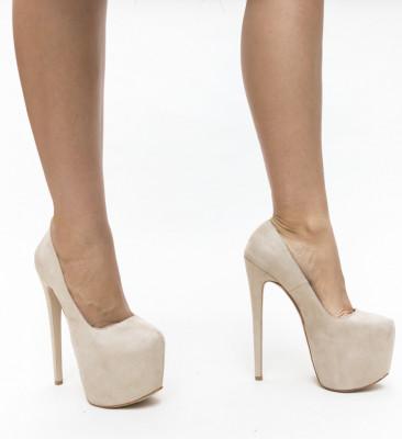 Обувки Qasim Бежови